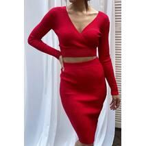 Vinceotto Спідничий костюм з глибоким вирізом - червоний колір, L/XL