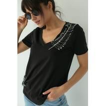 SuperB8isters Базова футболка з шпильками - чорний колір, S
