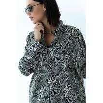 QU STYLE Костюм жіночий двійка сорочка і шорти - кавовий колір, S