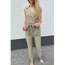 Cazibe Стильний жіночий комбінезон в діловому стилі - хакі колір, XL