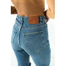 Denim Palace Прямі джинси з декоративними розрізами - джинс колір, 42р