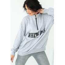 Enjoy Carnavale Женский свитшот с принтом в спортивном стиле - серый цвет, M