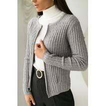 P-M Короткий кардиган со стильным узором - серый цвет, XL/XXL