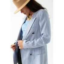 D-K Basic Классический пиджак в полоску - голубой цвет, S