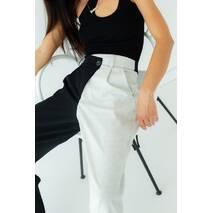 PERRY Двоколірні брюки з бічним гульфиком - св-серый колір, M