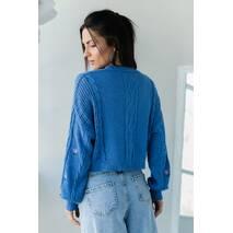 SOBE Укороченный кардиган с цветочною вышивкою - джинс цвет, L