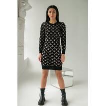 Enzoria Облягаюча сукня футляр з трикотажного полотна з об'ємною в'язкою сердечка - кавовий колір, S