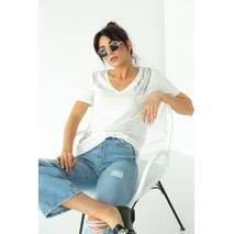 SuperB8isters Базова футболка з шпильками - білий колір, S
