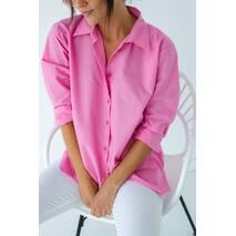 Barley Сорочка з перламутровими гудзиками - рожевий колір, M