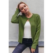 P-M Стильный короткий кардиган - зеленый цвет, L/XL