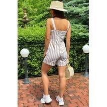 LUREX Комбінезон жіночий літній з шортами на регульованих лямках  - бежевий колір, M