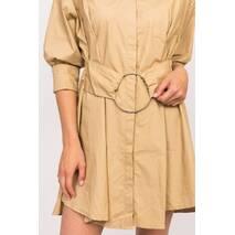 Yingzi Сукня сорочка з кільцем на поясі - кавовий колір, M