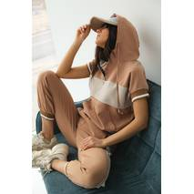 PERRY Спортивний костюм жіночий літній  - кавовий колір, S