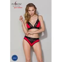 Трусики с широкой резинкой и кружевом Passion PS001 PANTIES red/black, size XL