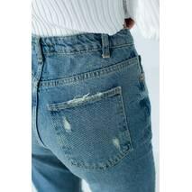 Denim Palace Джинси жіночі з рваними елементами - джинс колір, 40р
