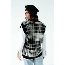 Fame Женская трикотажная жилетка с V-образной горловиной - черный цвет, L