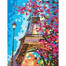 """Картина за номерами 35х45 см """"Весна в Парижі"""" Rosa N0001369"""