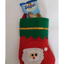 Шкарпетка для подарунків Christmas Decoration Різдвяний 20 см