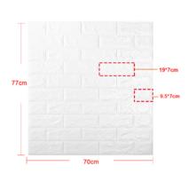 Декоративная 3D панель самоклейка под бежево-оранжевый кирпич 700x770x5мм