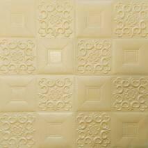 Самоклеющаяся декоративная потолочно-стеновая панель бежевый узор 700x700x5мм