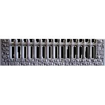 Форма для огорожі з АбС №33 Розміри: 2000х500х40 мм