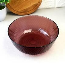 Великий скляний салатник з кольорового скла Luminarc Ідилія Лилак (Q1311)