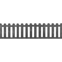 Форма для огорожі із склопластика №30 Розмірів: 2000х500х40 мм