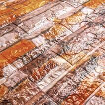 Декоративная 3D панель самоклейка под кирпич Екатеринославский песчаник 700x770x6мм