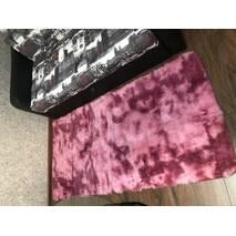 Прикроватный коврик травка с высоким ворсом 180х80 розовый