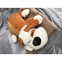 Игрушка плед подушка 3 в 1 пёсик коричневая