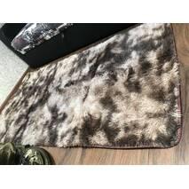 Прикроватный коврик травка с высоким ворсом 180х80 коричневый