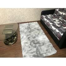 Прикроватный коврик травка с высоким ворсом 180х80 серый