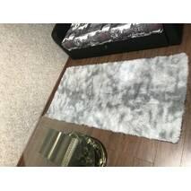 Прикроватный коврик травка с высоким ворсом 150х200 серый