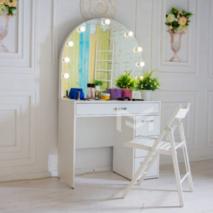 Стол для макияжа с полукруглым зеркалом и подсветкой М627