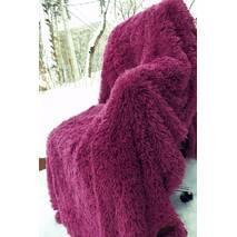 Меховый плед-травичка євро розміру фіолетовий