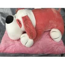 Игрушка плед подушка 3 в 1 пёсик красная