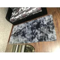 Прикроватный коврик травка с высоким ворсом 150х200 темно-серый