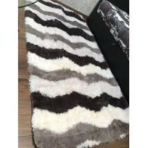Прикроватный коврик травка с высоким ворсом 180х80 разноцветный волнистый