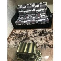 Прикроватный коврик травка с высоким ворсом 150х200 коричневый