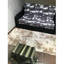 Прикроватный коврик травка с высоким ворсом 180х80 цвета  кофе с молоком
