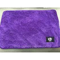 Мягкий коврик в ванную 40х60 см фиолетовый