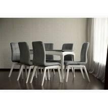 Комплект обідній стіл + стільці Navi Soft, білий