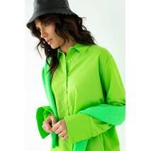 Barley Рубашка с перламутровыми пуговицами - салатовый цвет, M
