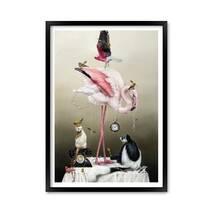 """Постер """"Искусство животных"""" с антибликовым  стеклом 42 x 59.4 см в чёрной рамке"""
