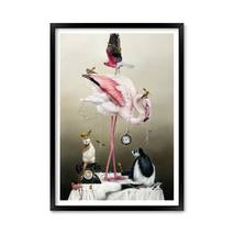 """Постер """"Искусство животных"""" с антибликовым  стеклом 29.7 x 42 см в чёрной рамке"""