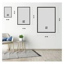 """Постер """"Хризантема"""" с антибликовым стеклом  42 x 59.4 см в чёрной рамке"""