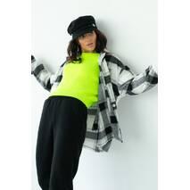 pickk-upp Женская теплая рубашка в клетку с накладными карманами - серый цвет, L