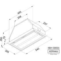 Вытяжка KERNAU KBH 08501 X