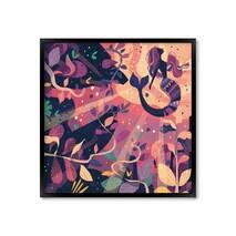 "Постер ""Mermaid"" без стекла 60 x 60 см в чёрной  рамке"