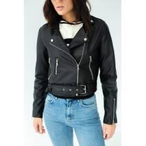 Enjoy Carnavale Куртка косуха из экокожи на замку - черный цвет, S